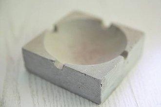 Dekorácie - popolník betónový - 10813999_