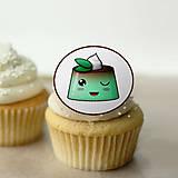 Dekorácie - Puding žmurkajúci - grafika na koláč (mätový) - 10815347_