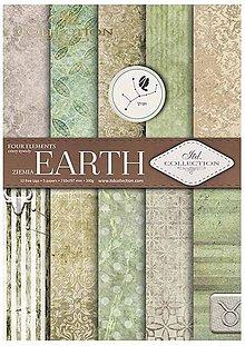 Papier - Sada obojstranných papierov Earth - 10816604_