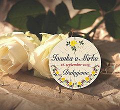 Darčeky pre svadobčanov - Svadobná magnetka - 10815797_