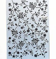 Pomôcky/Nástroje - Šablóna Stamperia - 20x30 cm - ružičky, ruže, kvety, lístky - 10815823_