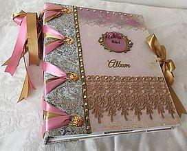 Papiernictvo - Veľký ružovo-zlatý album - 10817003_