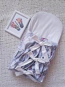 Textil - Šedá perinka s medvedíkom - 10816802_