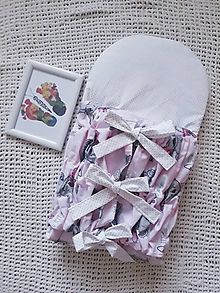 Textil - Ružová perinka s medvedíkom - 10816808_