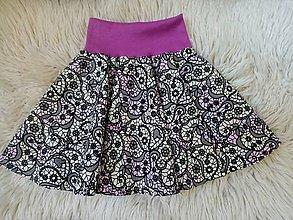 Detské oblečenie - Suknička z meniaceho úpletu - 10817107_