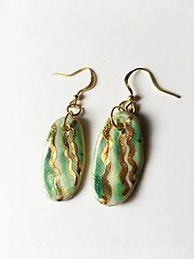 Náušnice - vlnovkové /keramika/ - 10815688_