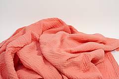 Textil - JEDNOFAREBNÁ  gázovinová prikrývka - farba na želanie - 10817151_