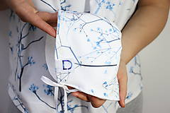 Detské čiapky - BIO-bavlnený kvarelový čepček - Gypsomilka - 10817156_