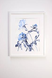 Obrazy - Reprodukcia akvarelu - Pivónie - 10815804_