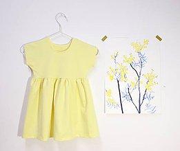 Detské oblečenie - Mini šaty - Žlté - 10815834_
