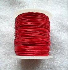 Galantéria - Vosk.šnúrka 0,8mm-80m (červená) - 10816179_