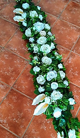 Svadobná výzdoba na stôl biela