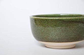 Nádoby - Bowl green-white - 10816356_