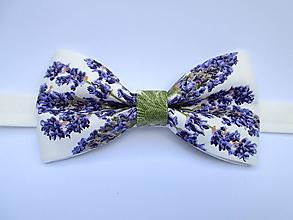 Doplnky - levanduľový pánsky motýlik - 10815569_