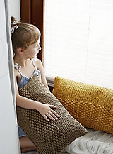 Úžitkový textil - Pletený vankúš - hnedý - 10816562_