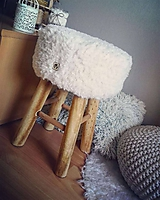 Nábytok - Taburet HYGGE kožušinka - 10815705_