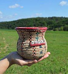 Košíky - (Bohémsky štýl) Pletený košíček - 10816848_