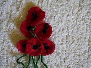 Materiál ručne robený - malé makové kvety - 10817120_