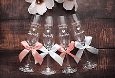 Nádoby - Svadobný pohár pre rodiča-bielo ružová - 10816959_