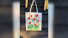 Iné tašky - ♥ Plátená, ručne maľovaná taška ♥ - 10816072_