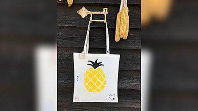 Nákupné tašky - ♥ Plátená, ručne maľovaná taška ♥ - 10815701_