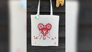 Nákupné tašky - ♥ Plátená, ručne maľovaná taška ♥ - 10815709_