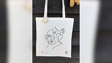 Iné tašky - ♥ Plátená, ručne ručne vyšívaná taška ♥ (XY5) - 10816149_