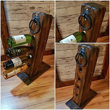 Dekorácie - Rustikalny stojan na vino - hranol - 10816846_