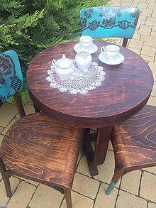 Nábytok - Kávičkový set - stôl a dve stoličky - 10816702_