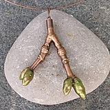 Náhrdelníky - Pokovená jarní větvička javoru*na krk - 10817089_