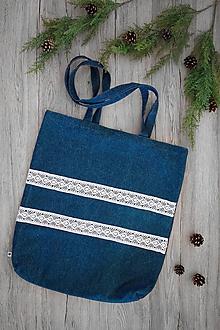 Veľké tašky - Riflová kabelka - 10816151_
