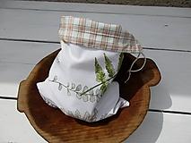 Úžitkový textil - obojstranné vrecko-bylinka - 10816291_