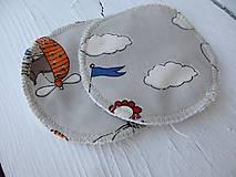 Úžitkový textil - dojčiace tampóny extra silné  s PUL - 10816551_
