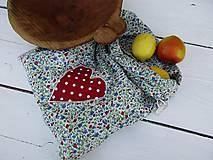 Úžitkový textil - obojstranné veľké modré vrecko - 10816571_