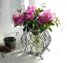 Pomôcky - Stojan na rastlinky - kvetinky - 10815809_