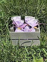 Darčeky pre svadobčanov - Levanduľove vrecúška - 10815909_