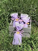 Darčeky pre svadobčanov - Levanduľove vrecúška - 10815910_