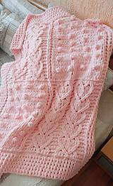 Textil - Jemnučká a ľahká detská deka z priadze alize puffy - 10816397_