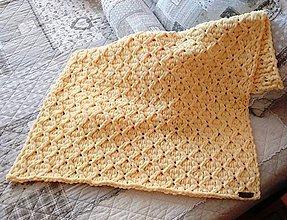Textil - Jemnučká a ľahká detská deka z priadze alize puffy fine - 10816224_