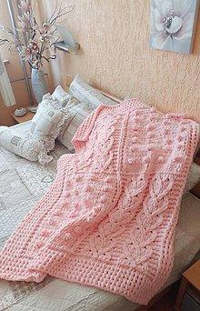Textil - Jemnučká a ľahká detská deka z priadze alize puffy - 10816396_