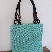 Veľké tašky - Tyrkysová kabelka - 10815795_