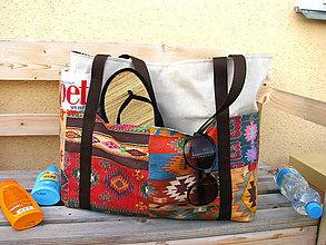 Veľké tašky - Plážová (oversized) taška - Výlet do Acapulca - 10816404_