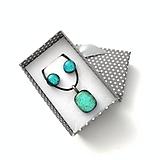 Sady šperkov - Maldives tyrkysová sada sklenených šperkov - 10815583_