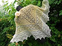 Šatky - Šátek z ručně předené a barvené vlny - 10817498_