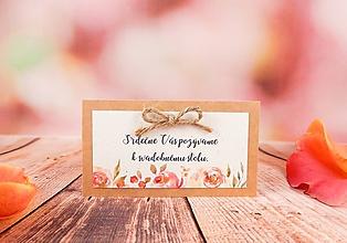 Papiernictvo - Pozvánka Belle so špagátikom - 10817226_