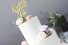 Dekorácie - Zápich na svadobnú tortu so znakom & - 10817810_