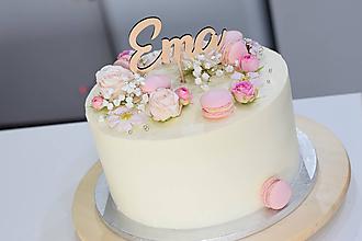 Dekorácie - Zápich na tortu Ema - 10817791_