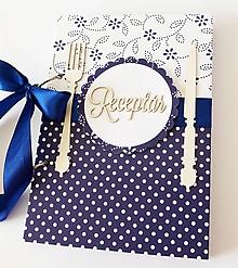 Papiernictvo - receptár modrý folk - 10817415_