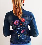 Kabáty - Ručnemaľovaná riflová bunda - 10817540_