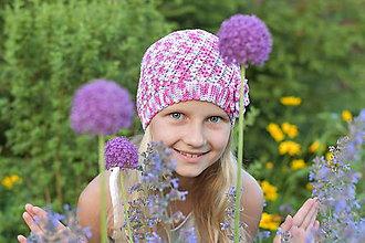 Detské čiapky - Trojfarebná čiapočka - 10817976_